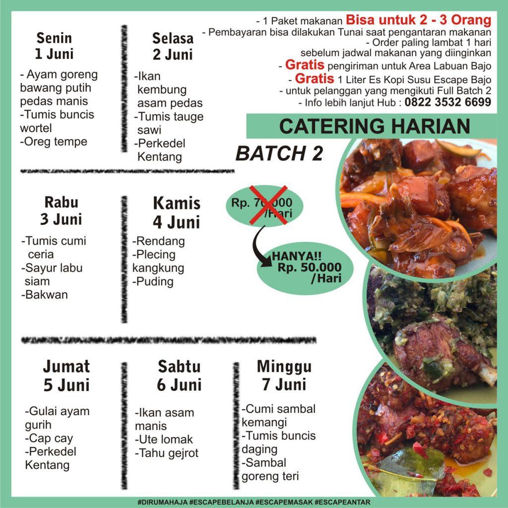 menu catering harian labuan bajo minggu 1