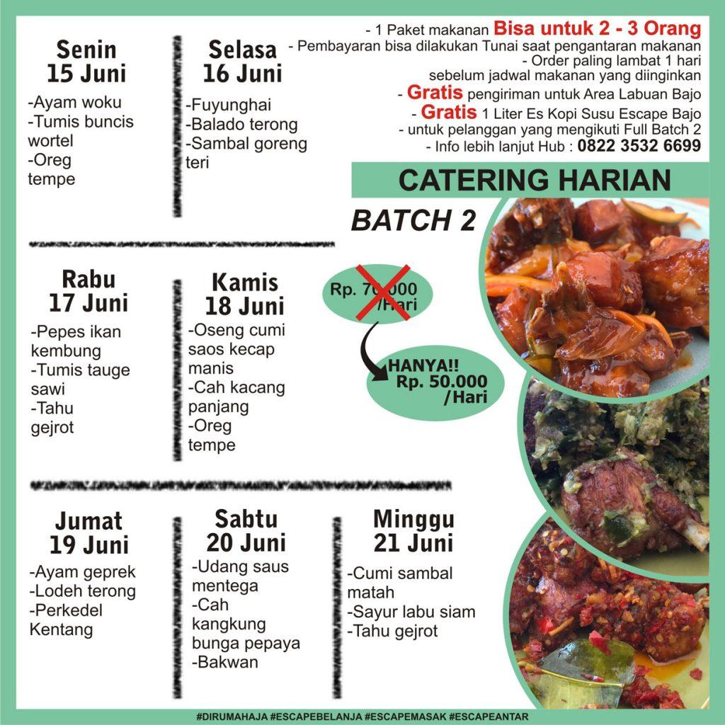 menu catering harian labuan bajo minggu 3