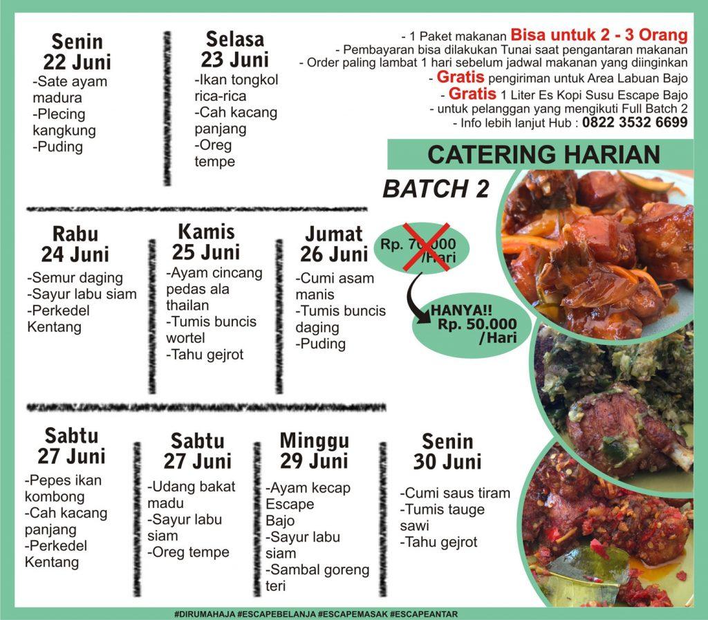 menu catering harian labuan bajo minggu 4