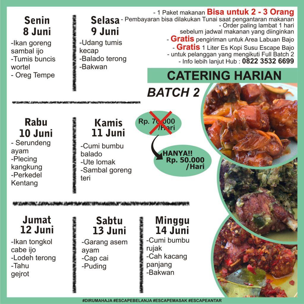 menu catering harian labuan bajo minggu 2